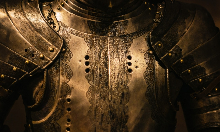 a suit of armor, representing the legal defense provided by an exculpatory clause in a liability waiver
