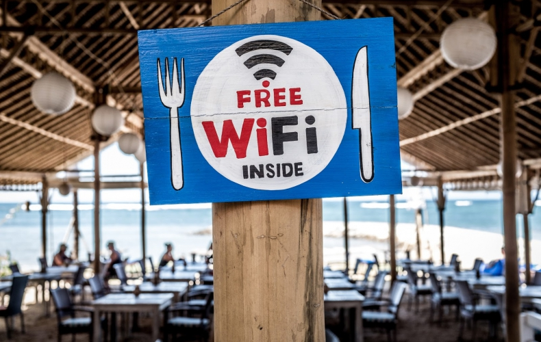 Free Wifi sign
